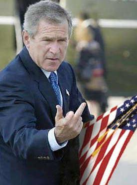 L'event qui aurait du frapper le monde ... Bush-finger