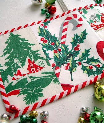 Into vintage 39 tis the season giveaway for 12 days of christmas table cloth