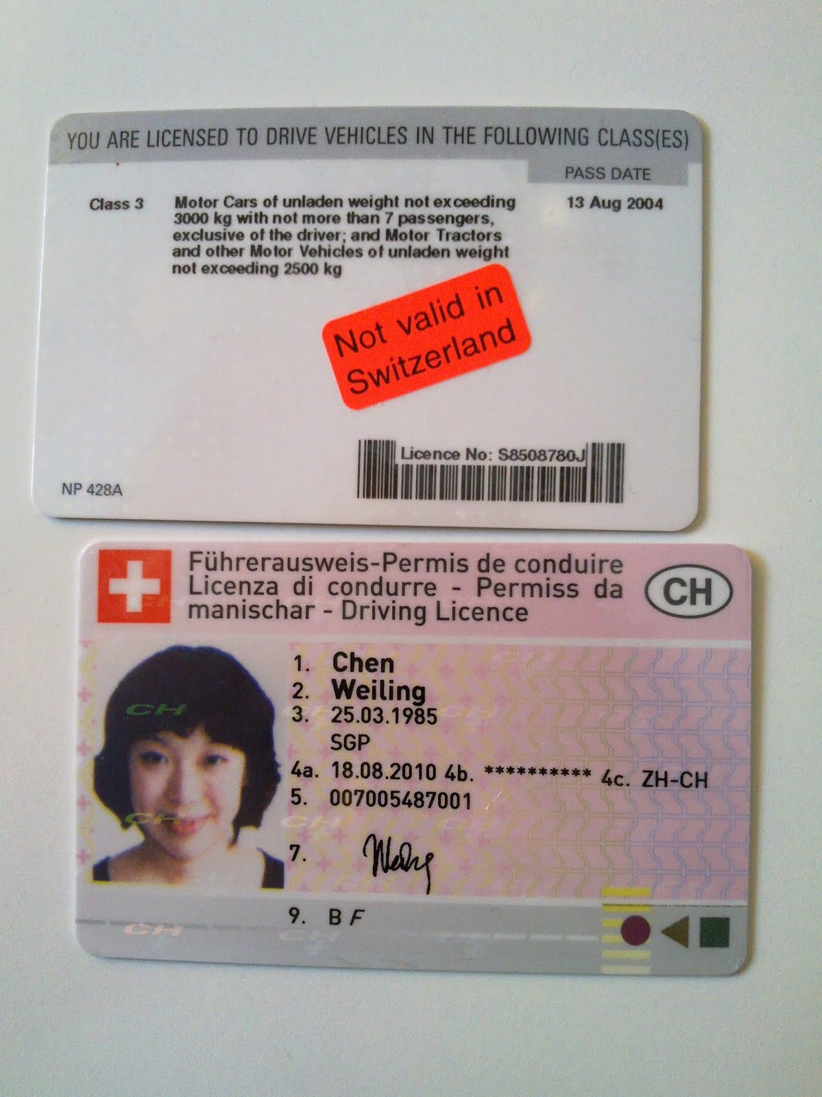 Car Rental Provisional License