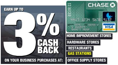 3% Cash Back - Chase Business Rebates Card!