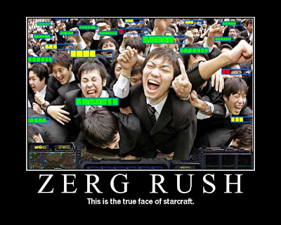Zerg Rush Demotivational Poster