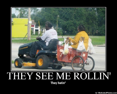 They See Me Rollin' Demotivational Poster