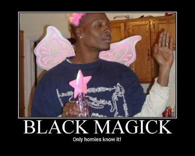 Black Magic Demotivational Poster