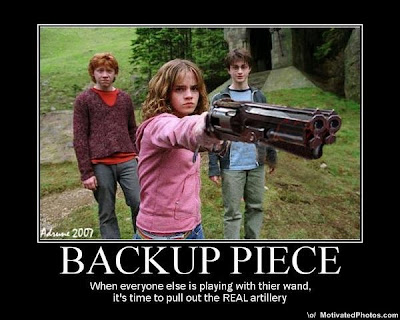 Backup Piece Demotivational Poster