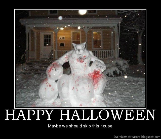 Happy halloween demotivational posters