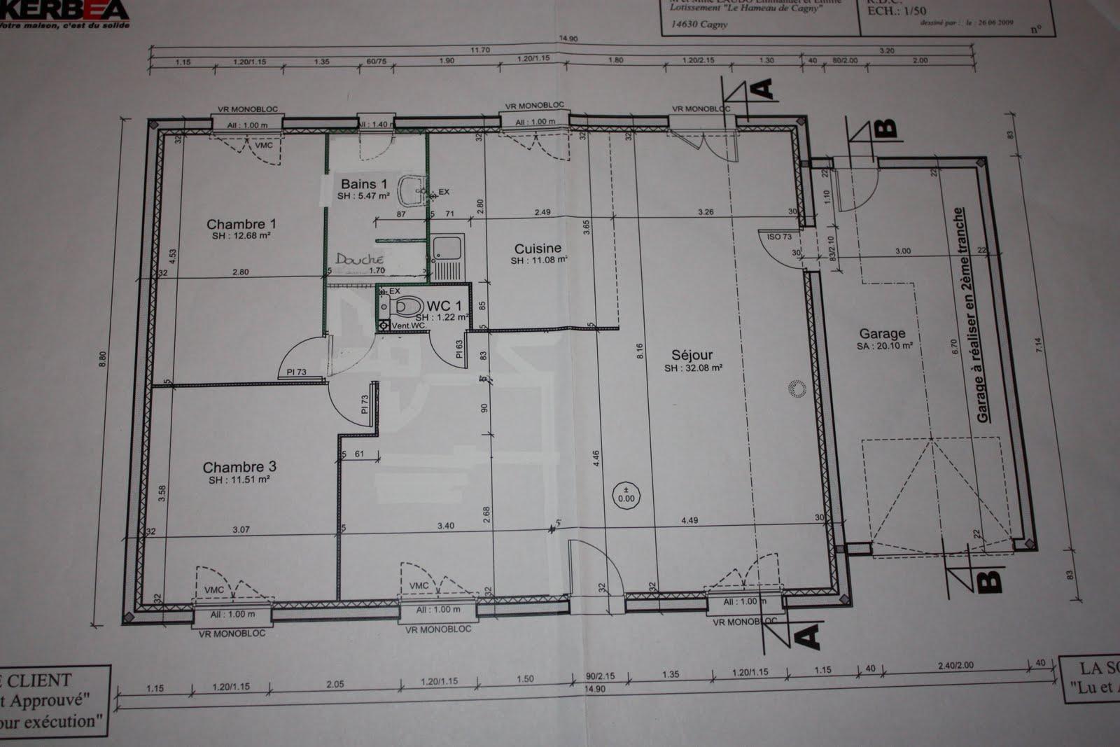 Plan de maison kerbea for Construire maison kerbea