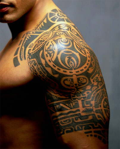 hawaiian tattoos for men. Tribal Arm Tattoos For Men-1