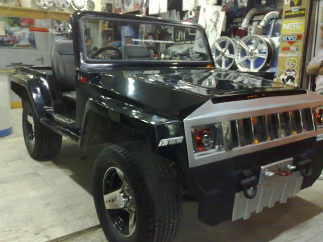 mahindra jeep converted into hummer hx