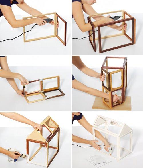 sea life style diy mini greenhouse. Black Bedroom Furniture Sets. Home Design Ideas