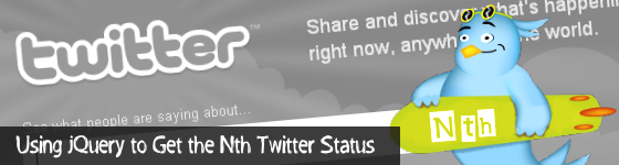 Using jQuery to Get the Nth Twitter Status