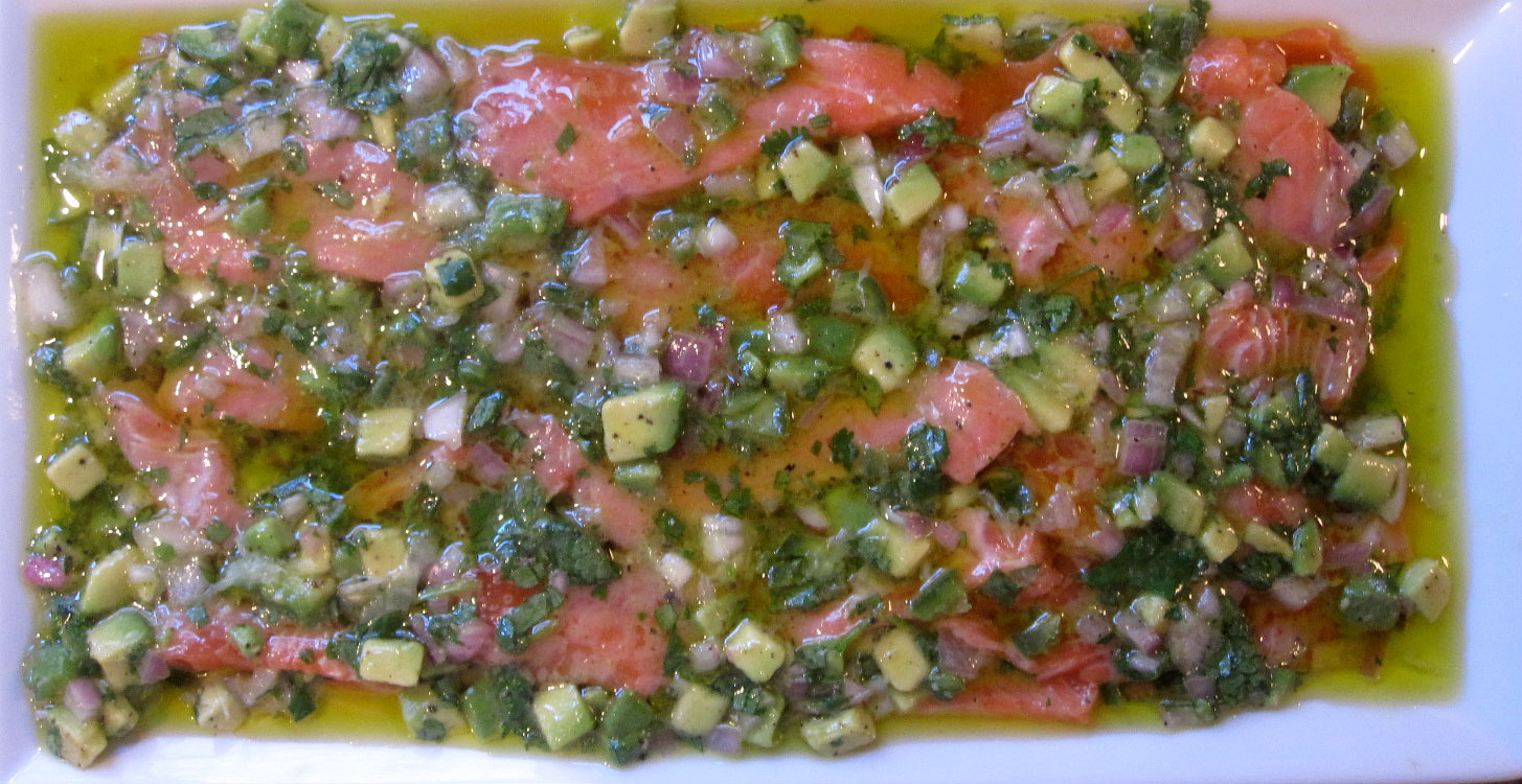 What Whit Ate: Friday Night - Salmon Ceviche
