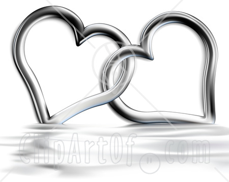 Two Hearts Entwined Clipart