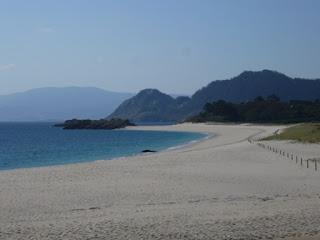 Playa de Rodas en las Islas Cies, Vigo, Galicia