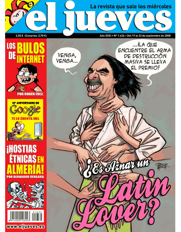 El Jueves ¿Es Aznar un latin Lover