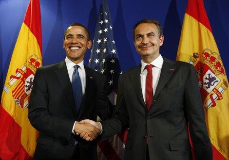 Obama y Zapatero