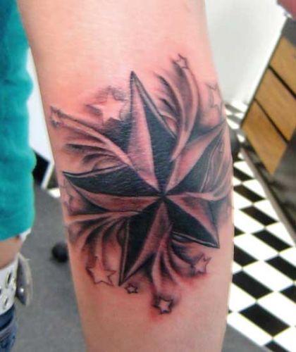tribal nautical star tattoos. the nautical star tattoo