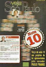 ÚNICO VEREADOR NOTA 10 EM PROJETOS DE LEIS APRESENTADOS!