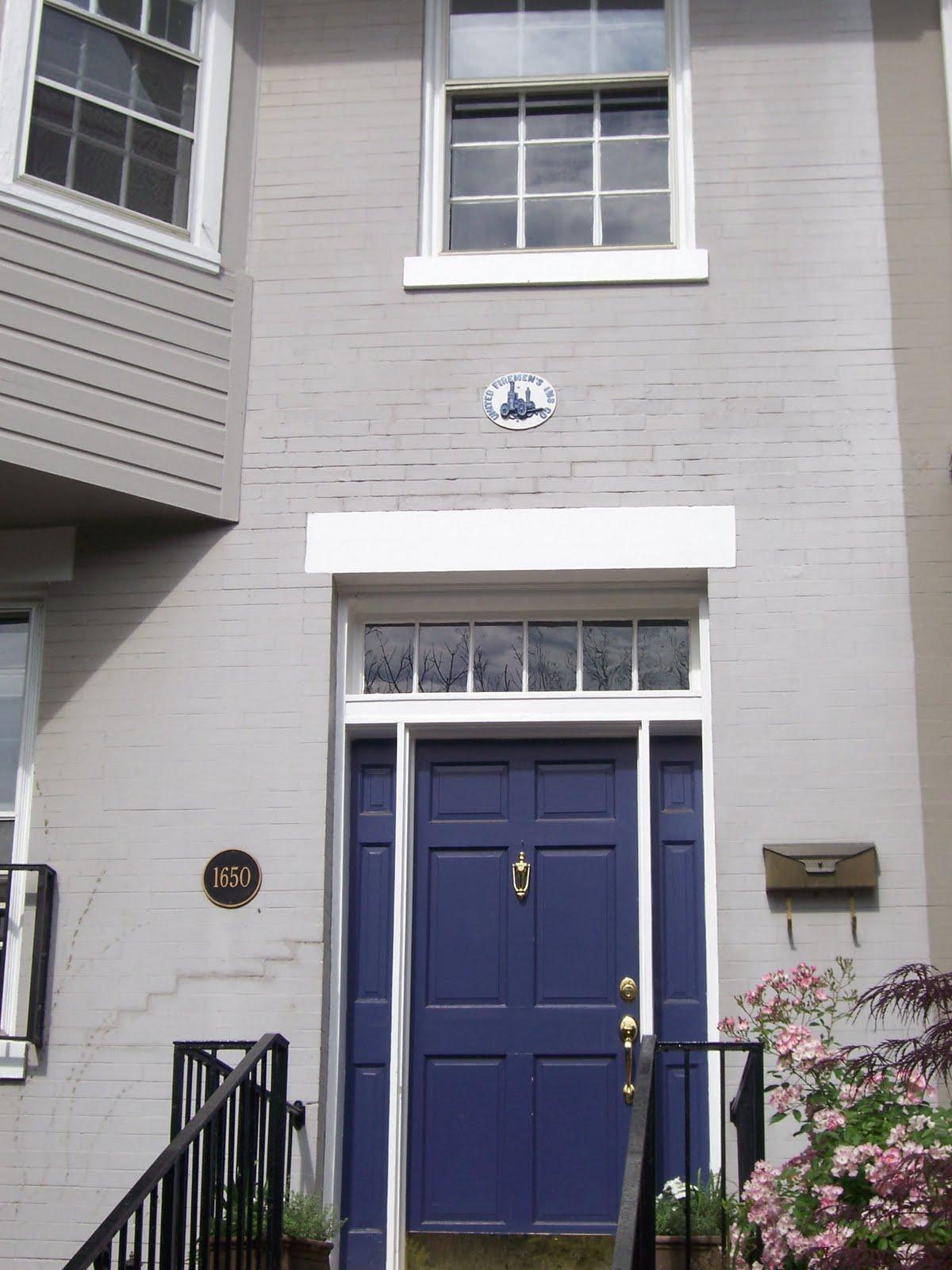 blue door house. Grey Blue Door House