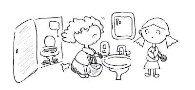 Dicostatella donne al bagno pubblico - Ragazze al bagno ...