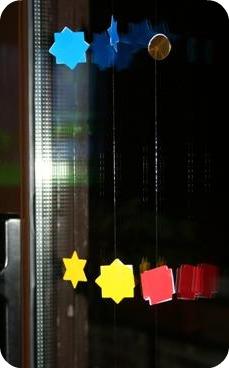 Tres pompones cortina de pegatinas - Pegatinas para cortinas ...