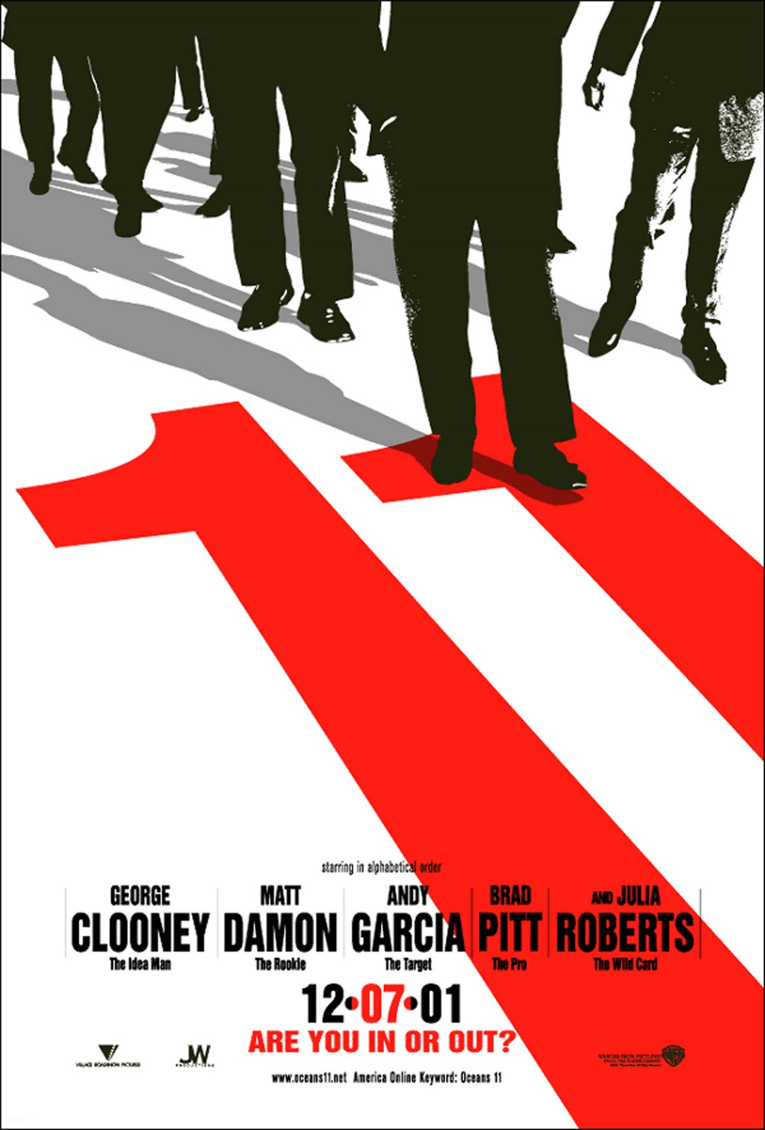 The Movies Database: [Posters] Oceans Eleven (2001)