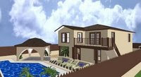 Under Construction San Pablo Duplex House with Large Pool on Canal!