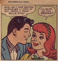 Patsy swooning to Buzz's compliments
