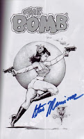 Pin up of Fearless Dawn, signed by Steve Mannion