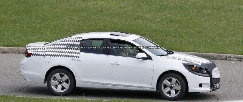 chevy malibu 2012 in all its glory new spy shots. Black Bedroom Furniture Sets. Home Design Ideas