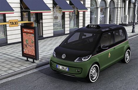 volkswagen introduced concept electric taxi in hannover. Black Bedroom Furniture Sets. Home Design Ideas