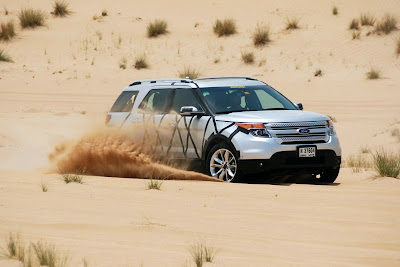2012 model Explorer in Dubai spy photos