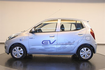 A prototype electric car Hyundai opened an updated look hatchback i10