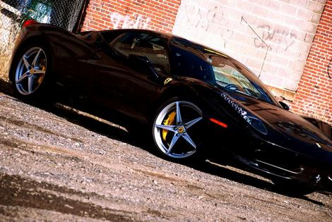 Corvette Stingray Black on The Ferrari 458 Italia Fabspeed Black 458 Motorsport Performance Video