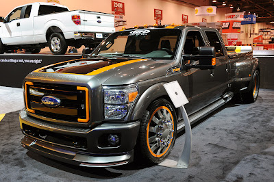 Airhead Kustoms Ford F-350 Super Duty first live pics with interior Sema 2010