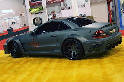 Platinum Motorsports SL65 AMG matte grey live Sema 2010