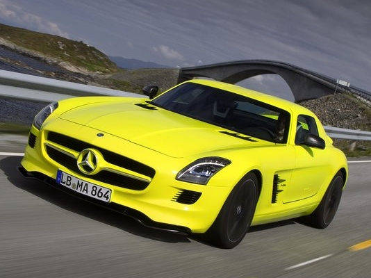 Mercedes SLS AMG E-Cell, which power more driving pleasure