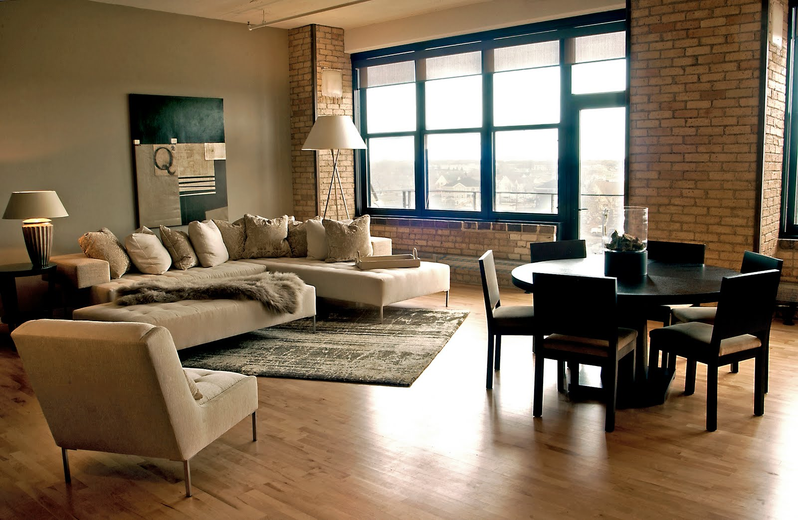 Flora angela brama lofts of ims Loft living room ideas