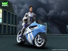Max Steel en la moto supercargada