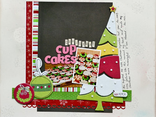Christmas Cupcakes Layout & Mini Tutorial