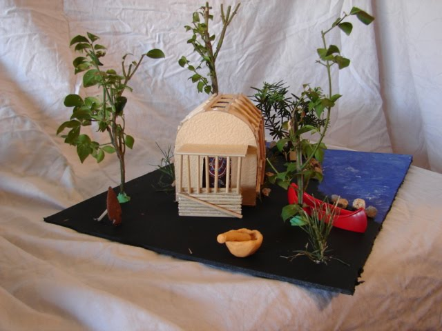 Native american longhouse projects for kids side of the longhouse