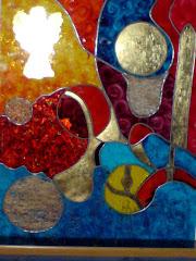Ingerul (tablou pe sticla, 2008)
