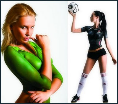 body painting sport costume