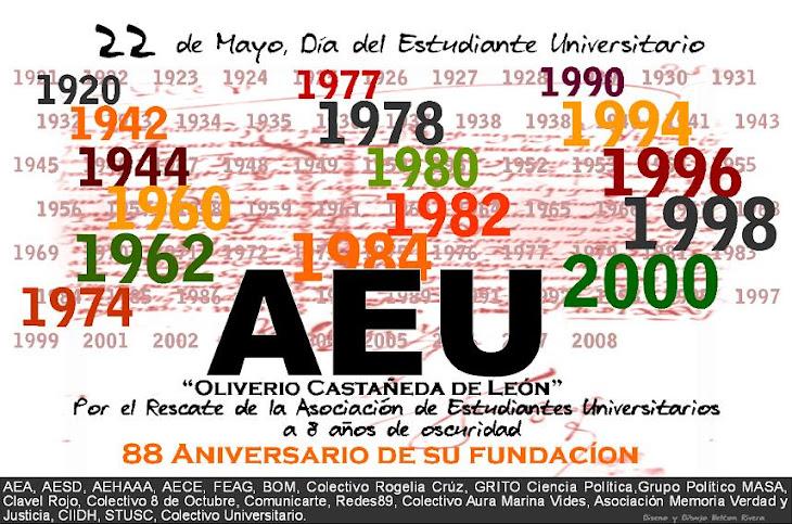 AEU a 8 años amordazada por la Derecha dentro de la Universidad