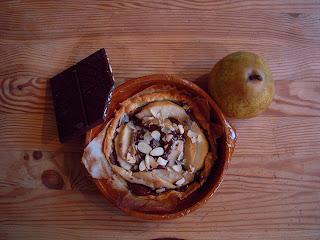 Tarte Poire chocolat amande