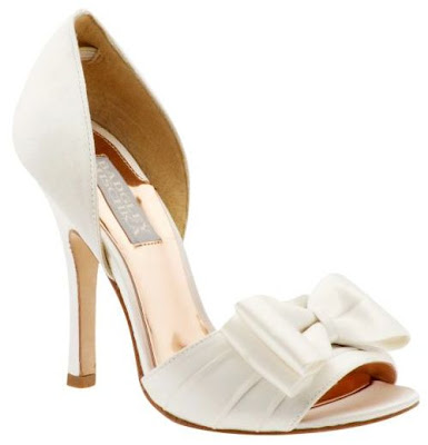 off white wedding shoes, badgley mischka