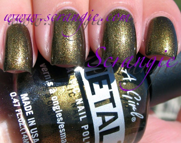 Scrangie: LA Girl METAL Metallic Nail Polish Collection