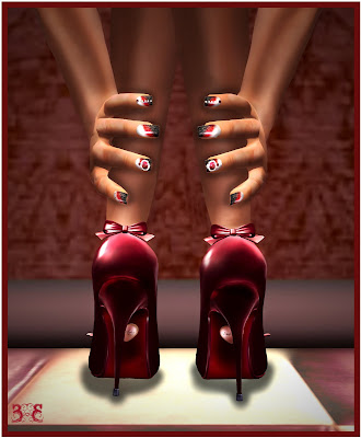 Photo and pose by me. Shoes: STILETTO MOODY - Pin Up Burgundy patent