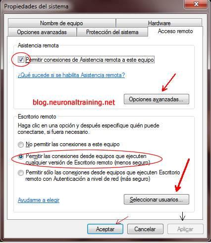 Habilitar conexion de escritorio remoto windows 7 tutoplux for Conexion escritorio remoto windows 8