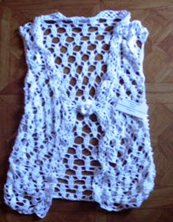 Chaleco tejido en hilo de algodon fino, con aguja cabezal fino N? 3 ...