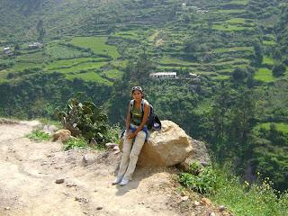 Descansando camino a Antankallo